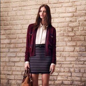 • Club Monaco • Tweed Striped Mini Skirt Navy 10